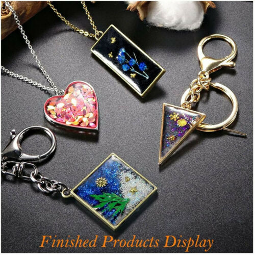 Fashion Necklace Cabochon Jewelry Making Resin Hollow Pendant Frame Geometric