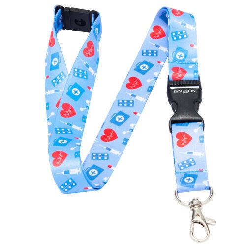 Multicolor Nurse Doctor Tragegurt Halsband mit Karte//Ausweis Halter Oder