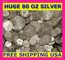 """ABSOLUTELY THE BEST OLD UNSEARCHED SILVER COIN LOT DEAL ON EBAY! """"80 OUNCES!"""""""