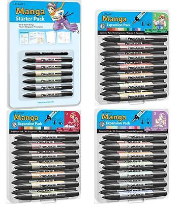 Letraset Manga Set 12 Pennarelli Promarker - Starter e Expansion Pack