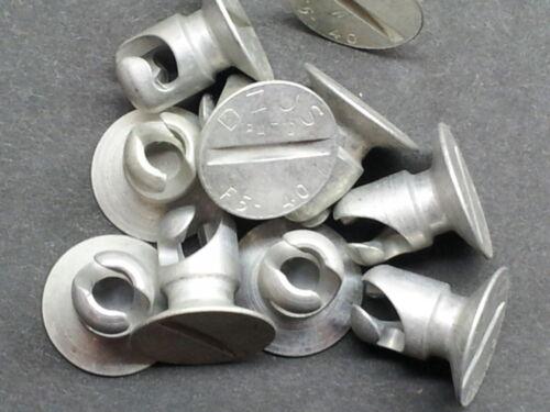 10 Dzus Fastener MANY SIZES AVAILABLE F head Flat Button Stud Genuine DZUS