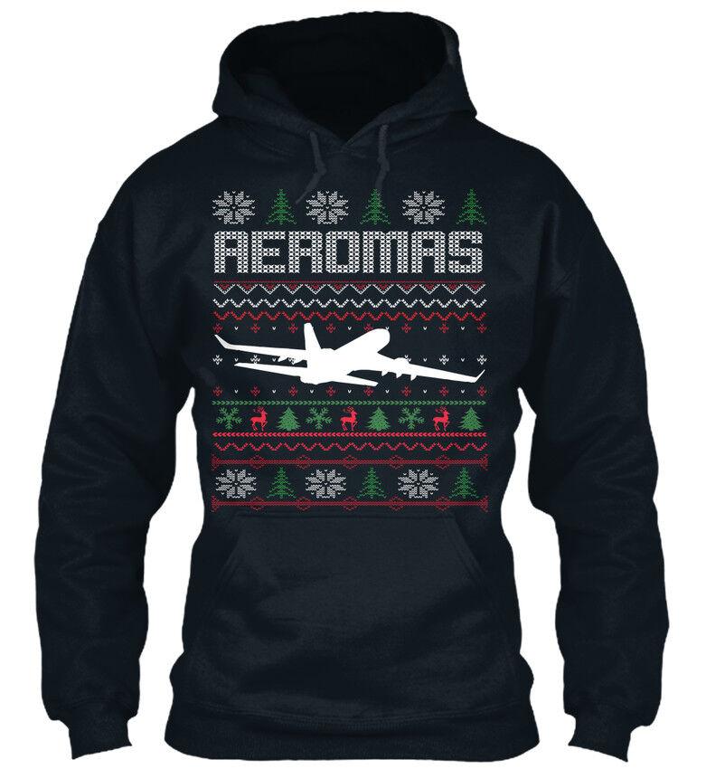 Casual Pilote Ugly Christmas Swea-aeromas Standard Standard College Sweat à Capuche