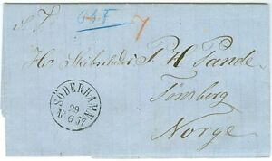 SWEDEN/NORWAY: Cover from Söderhamn to Norway 1867.