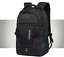 miniature 4 - New Mens Black Oxford School Backpack Satchel Laptop Casual Travel Bag 15""