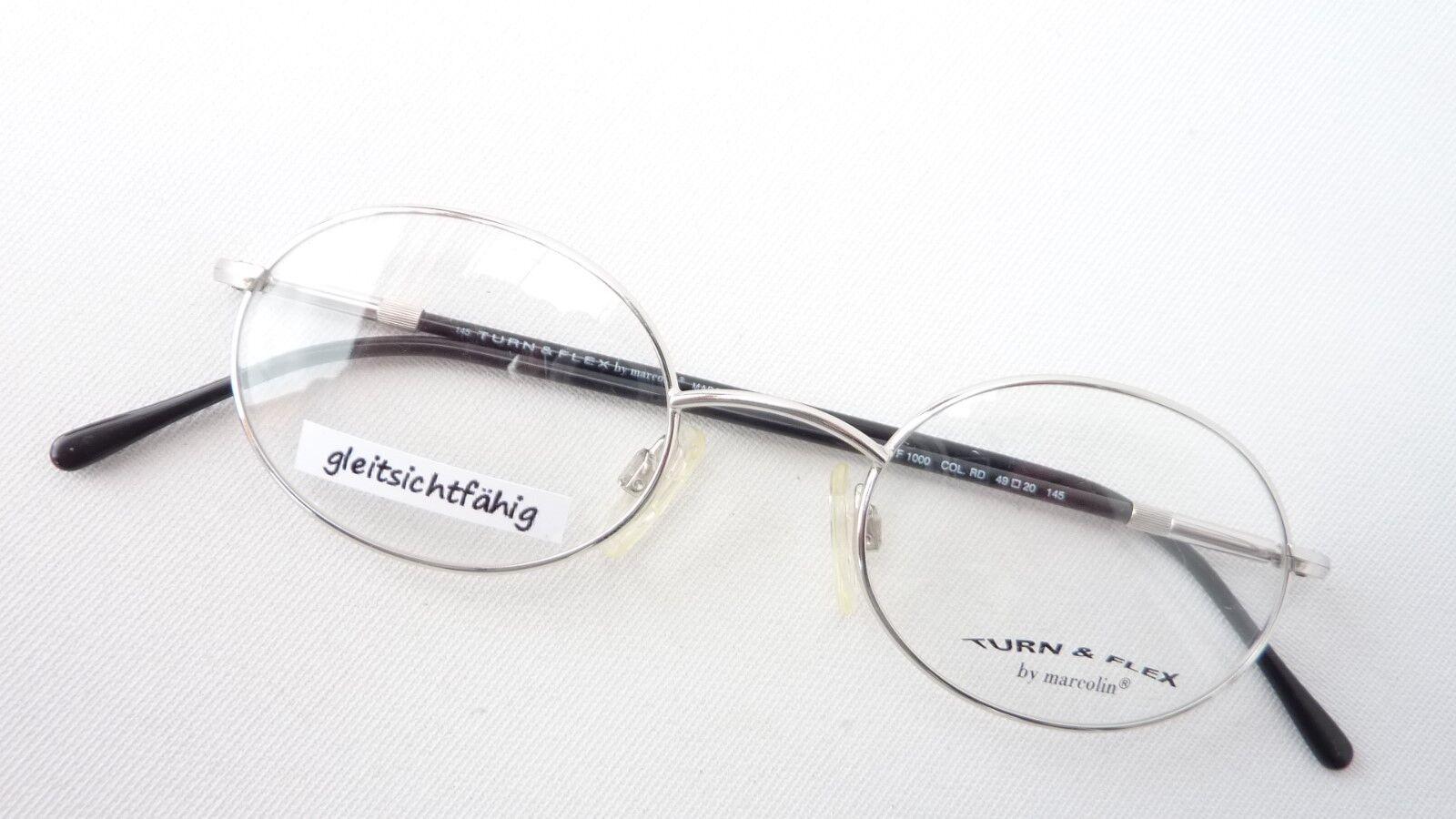 Brille silber Fassung Fassung Fassung mit ovaler Form Flexbügel schwarz Gestell Marcolin Größe M | Grüne, neue Technologie  fd8cde