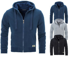 Mens-Padded-Borg-Fleece-Sherpa-Lined-Full-Zip-Up-Hoodie-Sweatshirt-Jacket-034-9833-034
