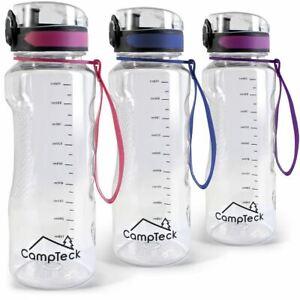 Sports-1-Litre-Water-Bottle-1000ml-BPA-Free-Leak-Proof-Drinks-Flip-Lock-Lid