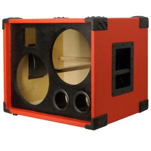 2x10 w tweeter bass guitar empty speaker cabinet fire red tolex black face ebay. Black Bedroom Furniture Sets. Home Design Ideas