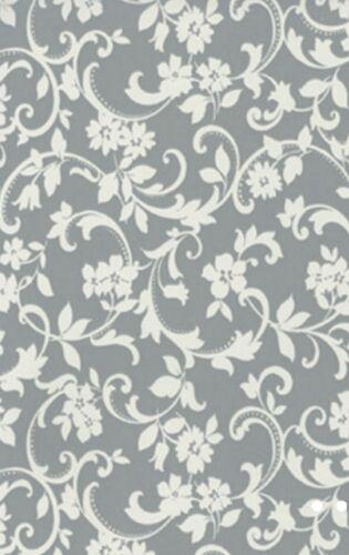 Klebefolie Ranken Cirrus grau selbstklebende Möbelfolie Vintage 0,45 x 15 Meter
