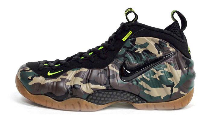 Nike Air Foamposite Pro PRM LE  587547 300 Green Camo 100% authentic