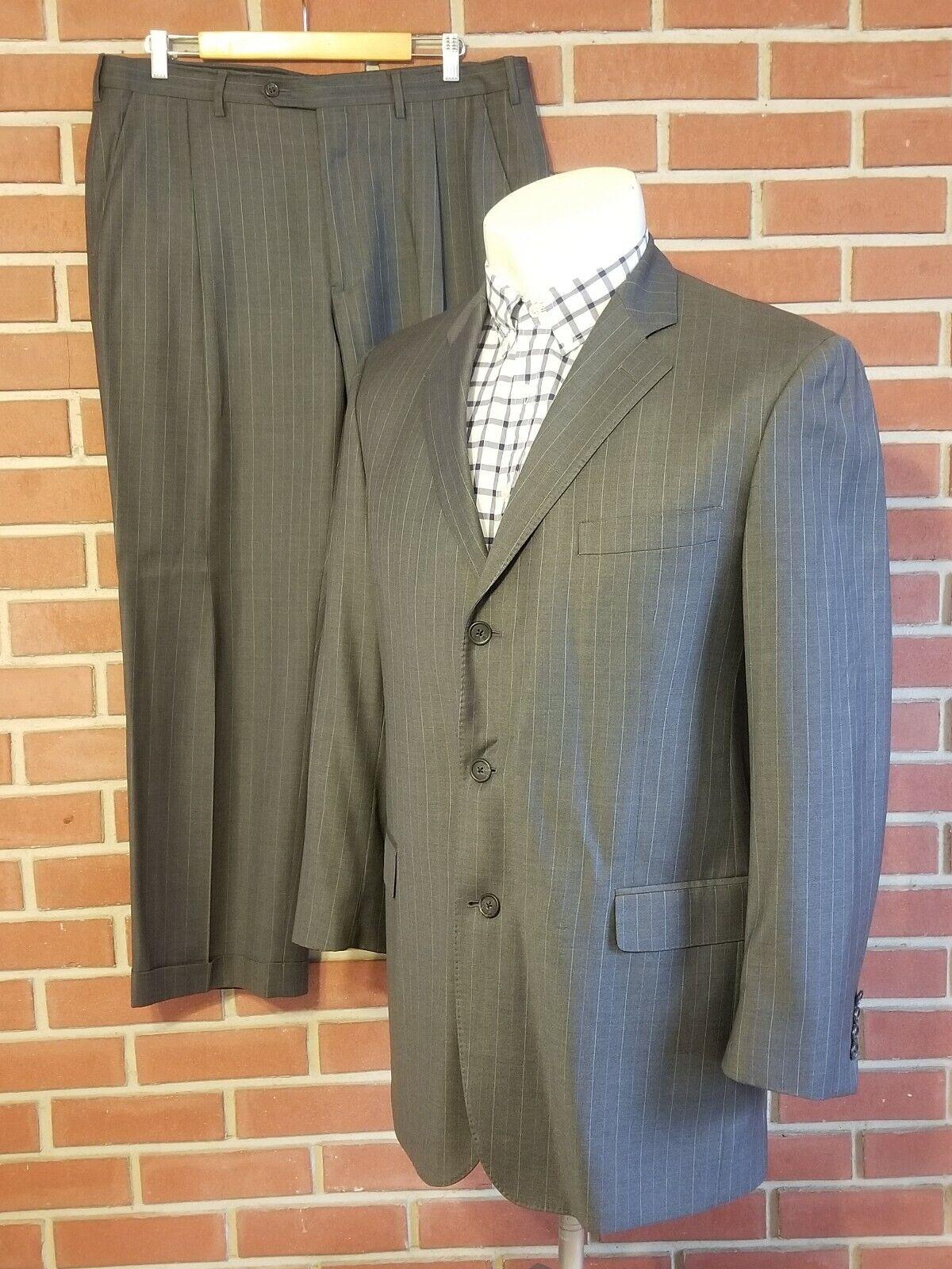 Brooks Bredhers Regent Mens Suit Trofeo Wool  45L   38W Ermenegildo Zegna