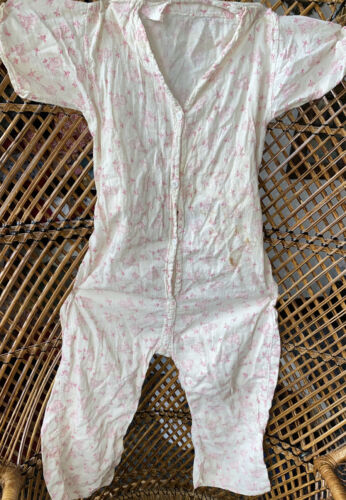 Vintage 1930s 1940s Novelty Feedsack Child Romper