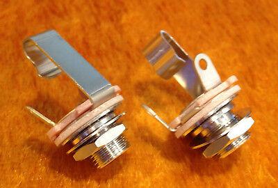 Switchcraft #11 1/4 Mono Jack Input Output w Mounting Hardware - PAIR (2X)