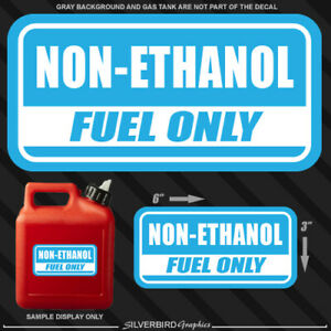 Non Ethanol Gas Near Me >> 1x Non Ethanol Fuel Only Sticker Gasoline Gas Decal Truck Vinyl Tank