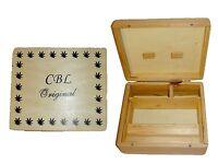 CBL Wooden LARGE Rollbox Rolling Roll Stash Snuff Tobacco Box Smoking Grassleaf