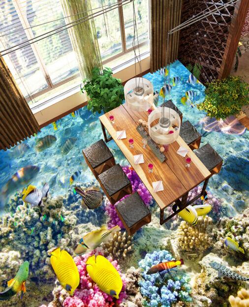 3D Reich an Fisch 35656 Fototapeten Wandbild Fototapete BildTapete Familie DE