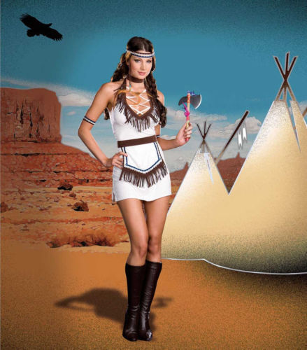 DREAMGIRL 6419 Womens Native American Knockout Costume several sizes reg $69