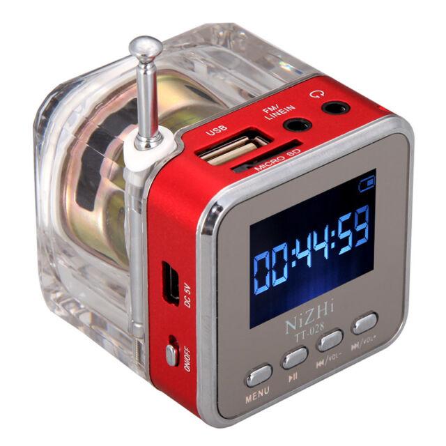 Mini Altavoz Portátil TF música MP3/4 Reproductor USB Disk FM Radio Rojo Nuevo