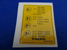 VOLVO CLASSIC FUEL INJECTION TYPE DECAL STICKER