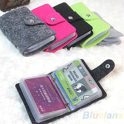 Women's Retro Pouch ID Credit Card Wallet Cash Holder Organizer Case Box Pocket