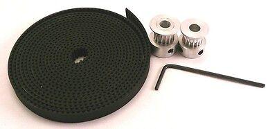 2 x Aluminum GT2 16T Pulley and 2M Belt for RepRap 3D printer Prusa i3 Mendel