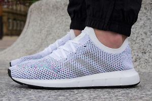 d7cbfc870ede6 Adidas Originals Swift Run Primeknit PK White Multi-Color Men Size ...