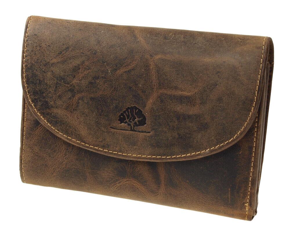 Greenburry Vintage Damen Geldbörse 1700-25 Braun Geldbeute Leder Portemonnaie