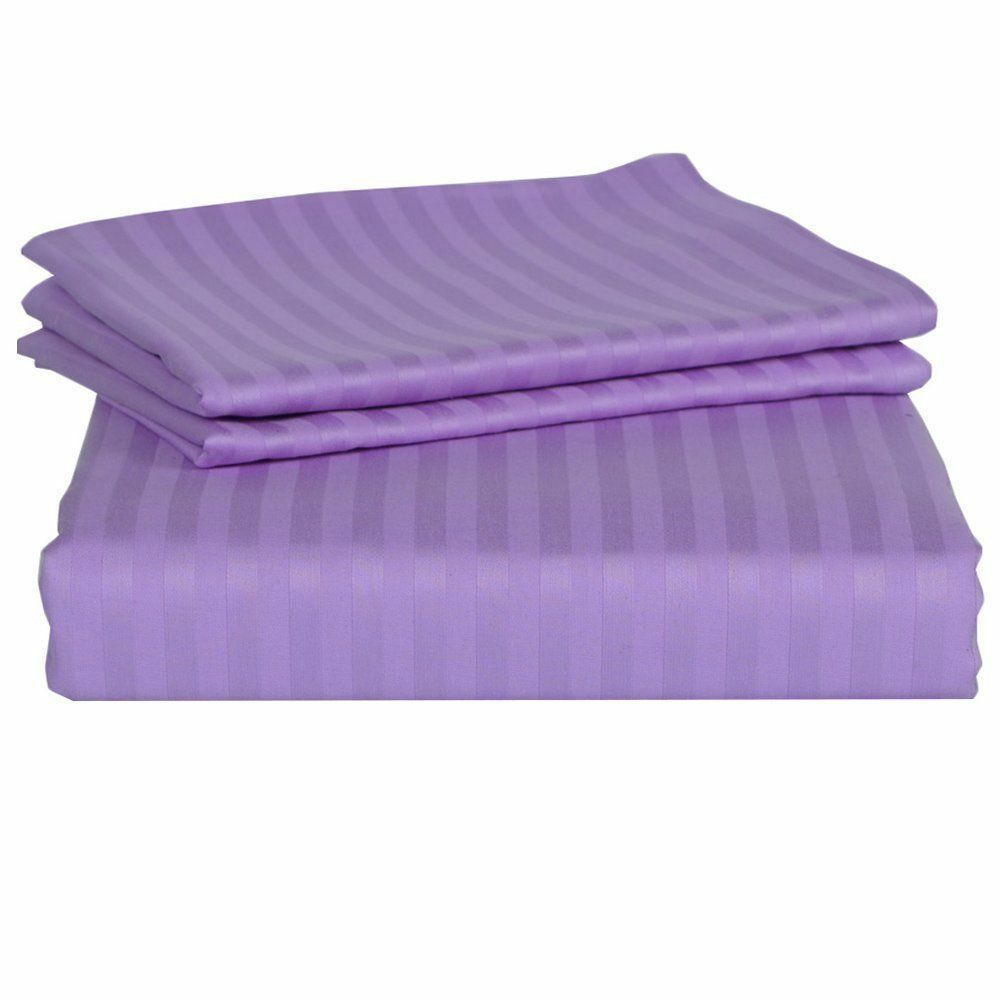 Complete Bedding Set Lavender Stripe Choose Größes 1000 Thread Count Egypt Cotton