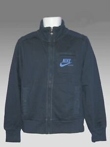Mediante seré fuerte limpiador  Nuevo Nike Sportswear Nsw Estilo vintage con aspecto envejecido Polar  Chaqueta De Algodón Azul Marino M | eBay