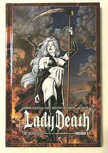 Lady-Death-Volume-2-HARDCOVER-HC-Brian-Pulido-SIGNED-EDITION-Limited-NM