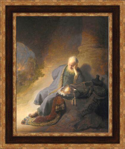 "V06-27 Rembrandt Jeremiah Lamenting the Destruction of Jerusalem 22.5/""x27/"""