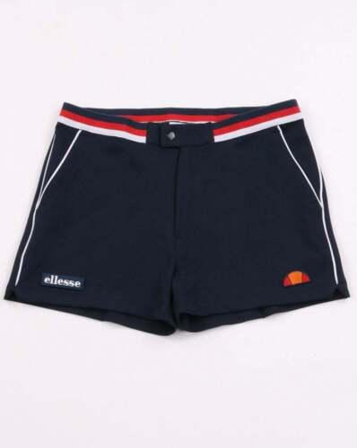 Rouge /& Blanc Rétro 80 S Knapp Tortoreto Ellesse Piped Tennis Style Shorts en Bleu Marine