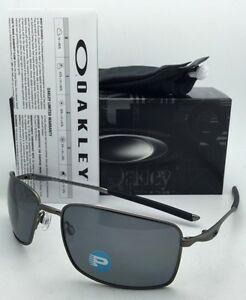 7e05af7d56e Image is loading Polarized-OAKLEY-Sunglasses-SQUARE-WIRE-OO4075-04-Carbon-