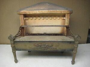 Image Is Loading Vintage Antique Cast Iron Amp Ceramic Fireplace Insert