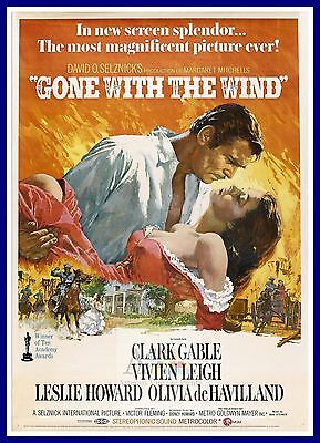 Gone With The Wind     1930/'s  Movie Posters Classic /& Vintage Cinema