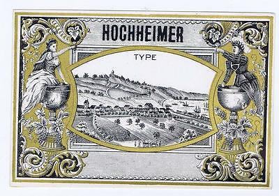 Dekorativ Boarder Gehorsam Hochheimer Typ Village Deutsche Vtg Spirituosen Etikett #39