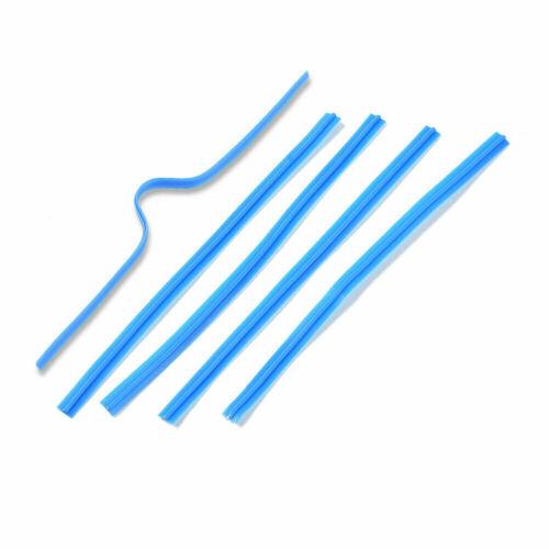 100pcs Flexible PE Plastic Wires Bendable Twist Ties Single Core Blue 100x4mm