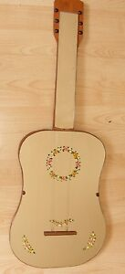 VINTAGE-RETRO-HAND-PAINTED-GUITAR-SHAPED-MIRROR-1950-039-S-1960-039-S