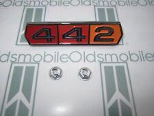 1964 1965 Olds Cutlass 442 Fender Quarter Trunk Emblem With Hardware Tri Color Fits 1964 Oldsmobile