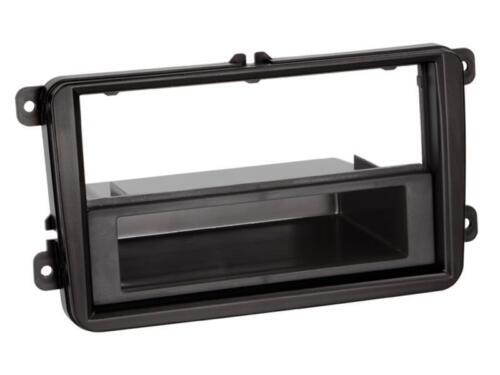 bac noir pour Skoda Fabia II Seat TOLEDO VW Installation Cadre Voiture Façade Radio
