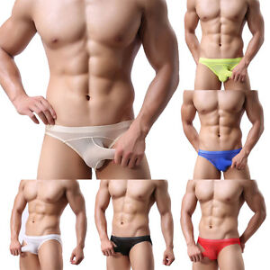 08fa53ff0 Men s Underwear Mesh Men Thongs See Through Briefs Bodysuit Low ...