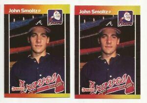Details About 1989 Donruss 642 John Smoltz Rookie Card Lot Of 2 Atlanta Braves