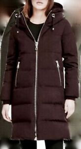DKNY LONGLINE PUFFER COAT D.K.N.Y LONG LINE DOWN CINCH BIG ZIP PUFFER JACKET SML