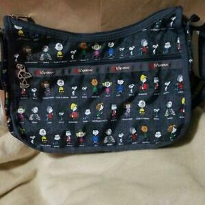 LeSportsac-x-Peanuts-All-Star-Snoopy-Shoulder-Bag-With-Poach-Japan-Limited