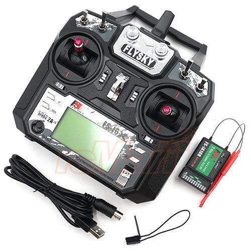 Flysky FS-i6X 2.4GHz 10 canales AFHDS 2A radio Control Modo 2 Transmisor con Receptor  FS-i6X