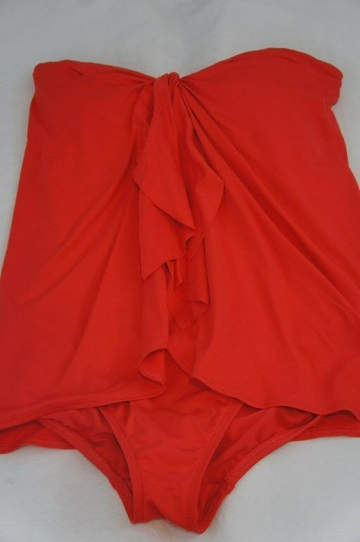 Ralph Lauren Swimwear One Piece Sz 8 Coral Flyaway Halter Swimsuit Swim LR53B11