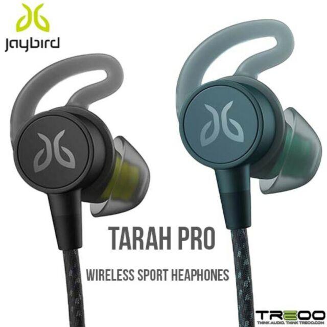 6b768a8793a JAYBIRD TARAH PRO WIRELESS IN-EAR SPORT BLUETOOTH HEADPHONES MINERAL  BLUE-JADE