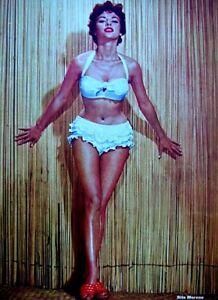Pinup Lithograph Rita Moreno 1955 20th Century Fox Cheesecake Promo Photo VTG