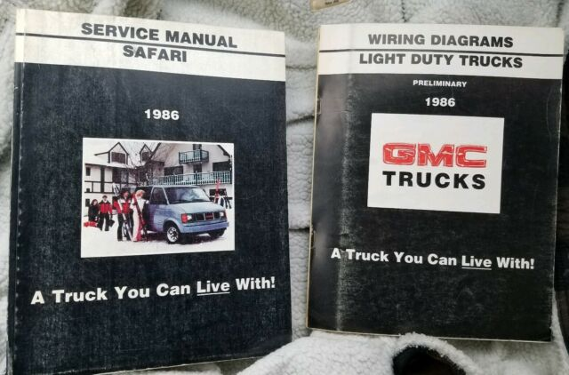 1986 Gmc Safari Light Duty Truck Repair Factory Service