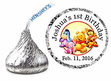 216 WINNIE THE POOH 1st 2nd 3rd 4th BIRTHDAY PARTY FAVORS HERSHEY KISS LABELS
